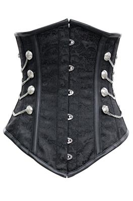 SERRE TAILLE NOBLE BLACK UNDERBUST