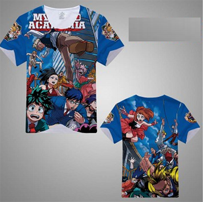 TEE SHIRT MY HERO ACADEMIA BLEU