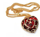 COLLIER ZELDA COEUR ROUGE