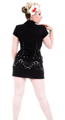 ROBE TUNIQUE BLACK PUNK DRESS