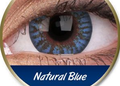 PAIRE LENTILLES NATURAL BLUE-bleu naturel