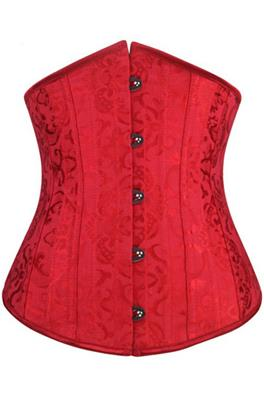 Red Jacquard Underbust