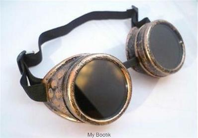 GOGGLES GLASS STEAMPUNK CUIVREES