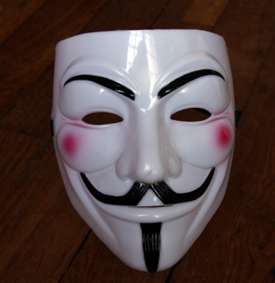MASQUE ANONYMOUS BLANC