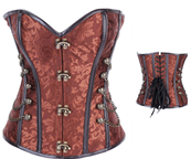 BROWN HEAVY STEAMPUNK CORSET