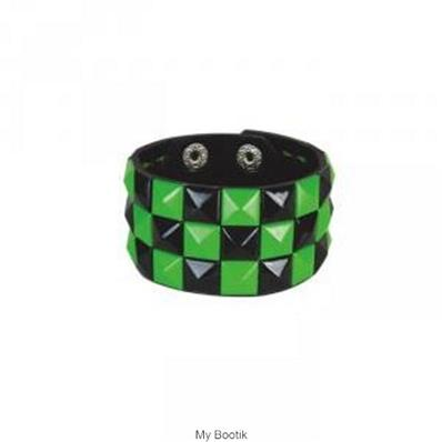 Green & Black Checkered Wristband REF.AB003B